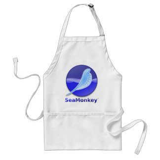 SeaMonkey Text Logo Adult Apron