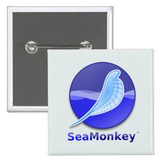 SeaMonkey Text Logo Pinback Buttons