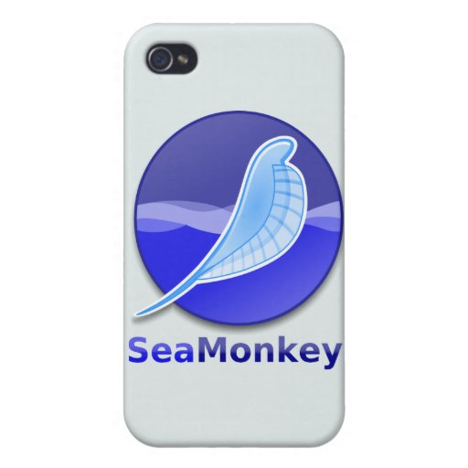 SeaMonkey Text Logo Covers For iPhone 4