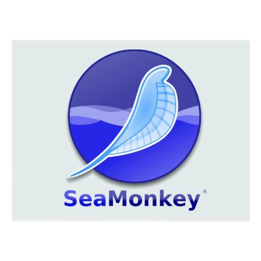 SeaMonkey Text Logo Postcards