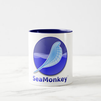 SeaMonkey Text Logo Two-Tone Coffee Mug