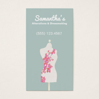 Seamstress and Dressmaker Mannequin Business Card