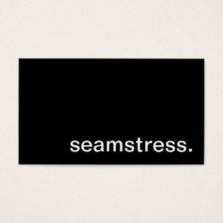 Seamstress Business Card