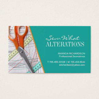Seamstress \ Dress Maker Business Card