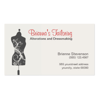 Seamstress Mannequin Mannequin Business Cards