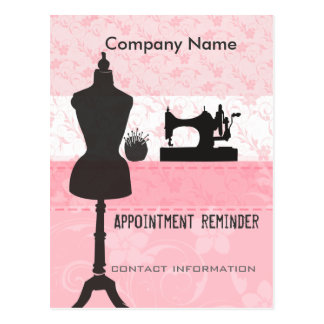 Seamstress Stylist Appointment Reminder Postcard