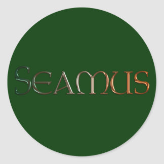 SEAMUS Name Branded Personalised Gift Stickers