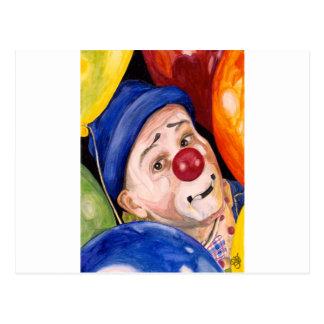Sean Carlock Clown Postcard