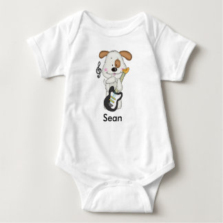 Sean's Rock and Roll Puppy Baby Bodysuit