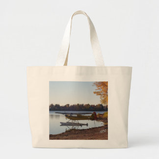 Seaplane by the Lake Large Tote Bag