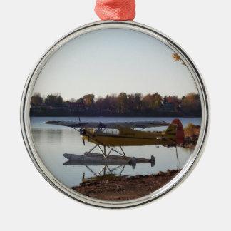Seaplane by the Lake Metal Ornament