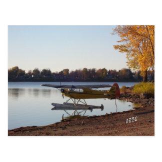 Seaplane by the Lake Postcard