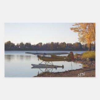 Seaplane by the Lake Rectangular Sticker