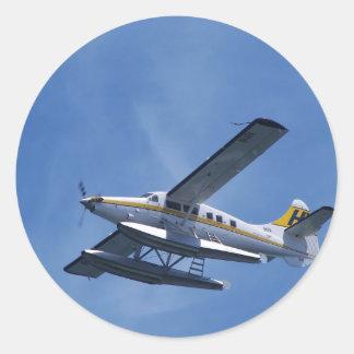 Seaplane Classic Round Sticker