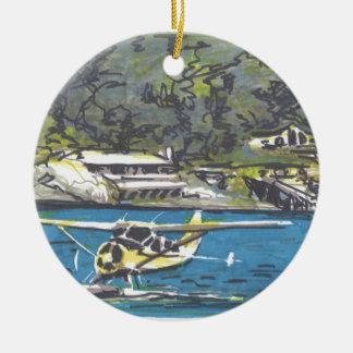Seaplane to San Juan Is. Ceramic Ornament