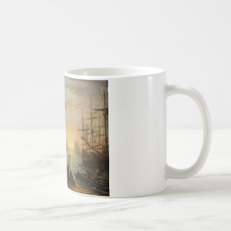Seaport at Sunset by Claude Lorrain Coffee Mug