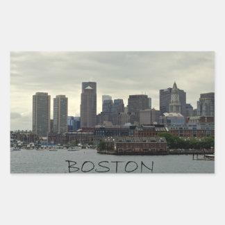SEAPORT OF BOSTON HARBOR RECTANGULAR STICKER