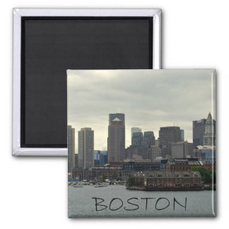 SEAPORT OF BOSTON HARBOR SQUARE MAGNET
