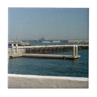 Seaport Village Aircraft Carriers Pier Water Bay D Small Square Tile