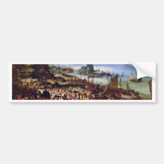 Seaport With The Preaching Of Christ By Bruegel D. Bumper Stickers