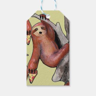 seapunk vaporwave grunge kawaii cute sloth pizza gift tags