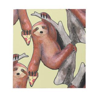 seapunk vaporwave grunge kawaii cute sloth pizza notepad