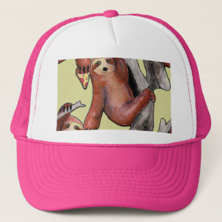 seapunk vaporwave grunge kawaii cute sloth pizza trucker hat