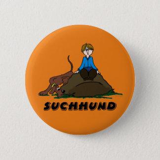 Search dog 6 cm round badge