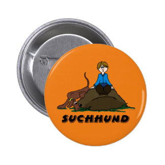 Search dog 6 cm round badge