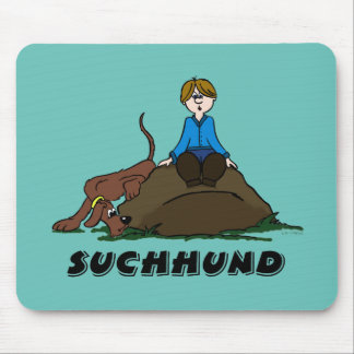 Search dog mouse pad