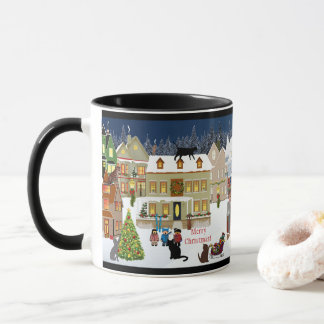 Search the Cats Cute Christmas Mug