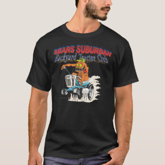 Sears Suburban Backyard Tractor Club in black T-Shirt