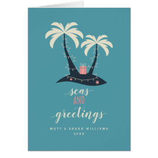Seas and Greetings Christmas Card