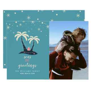 Seas and Greetings Vacation Christmas Cards