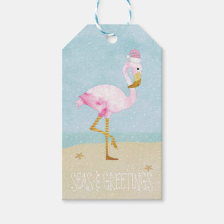 Seas and Greetings Watercolor Pink Flamingo