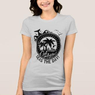 Seas | Seize The Day or Create a Quote Beach Theme T-Shirt