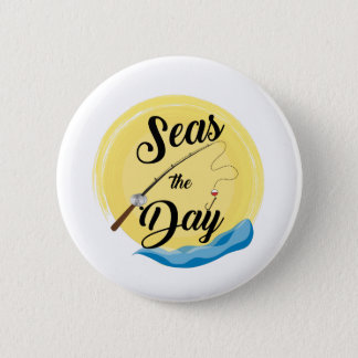 Seas The Day 6 Cm Round Badge