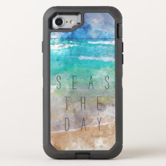 Seas the Day Beach Scene OtterBox Defender iPhone 8/7 Case