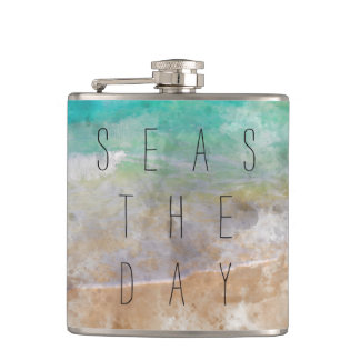 Seas the Day Gift Flask