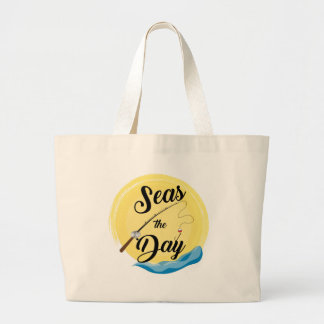 Seas The Day Large Tote Bag
