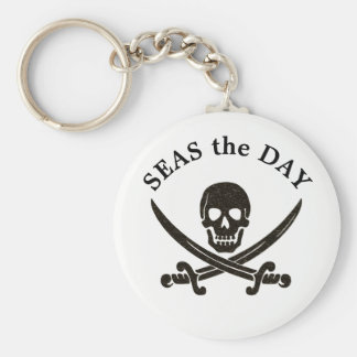 Seas the Day Pirate Keychain