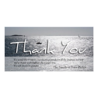 Seascape 3 Modern Sympathy Thank You Picture Card