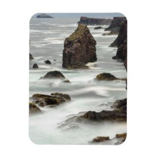 Seascape and sea stacks, Shetland Magnet
