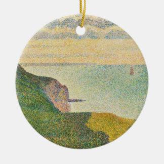 Seascape at Port-en-Bessin, Normandy, 1888 Ceramic Ornament
