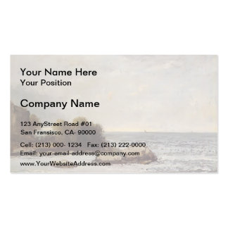 Seascape at Saint Aubin by Gustave Courbet Business Card