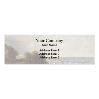 Seascape at Saint Aubin by Gustave Courbet Business Card Templates