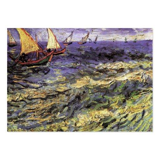 Seascape at Saintes-Maries by Vincent van Gogh Business Cards
