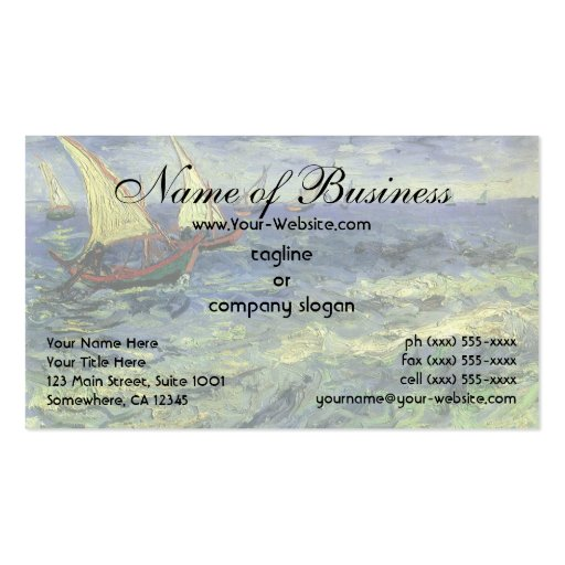 Seascape at Saintes-Maries by Vincent van Gogh Business Card