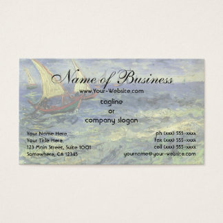 Seascape at Saintes-Maries by Vincent van Gogh Business Card