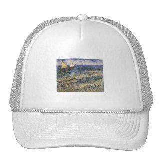 Seascape at Saintes-Maries by Vincent van Gogh Cap